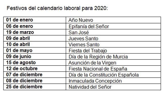 Calendario 2020 Espana Con Festivos.El Ano 2020 Tendra Un Macropuente Entre La Constitucion Y La